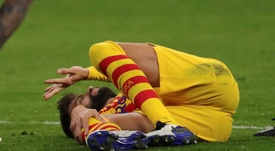 Piqué tiene un grave esguince de ligamentos. EFE