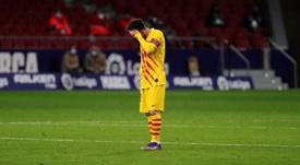Lionel Messi absent du groupe pour la Ligue des champions !. afp