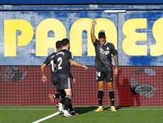 Mariano demostró que puede jugar en el Real Madrid. EFE