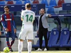 El Levante empató frente al Elche. EFE/ManuelBruque