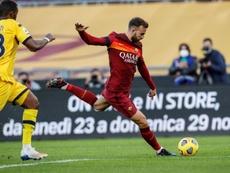 Mayoral se estrenó como goleador con la Roma en la Serie A. EFE