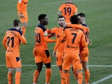 El Valencia empató 2-2 con el Alavés. EFE