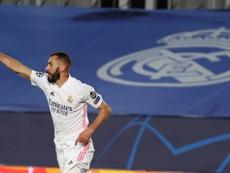 Benzema es la gran preocupación del Madrid para la Champions. EFE