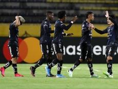 El campeón de la Sudamericana examina el debut de Giordan. EFE/José Jácome