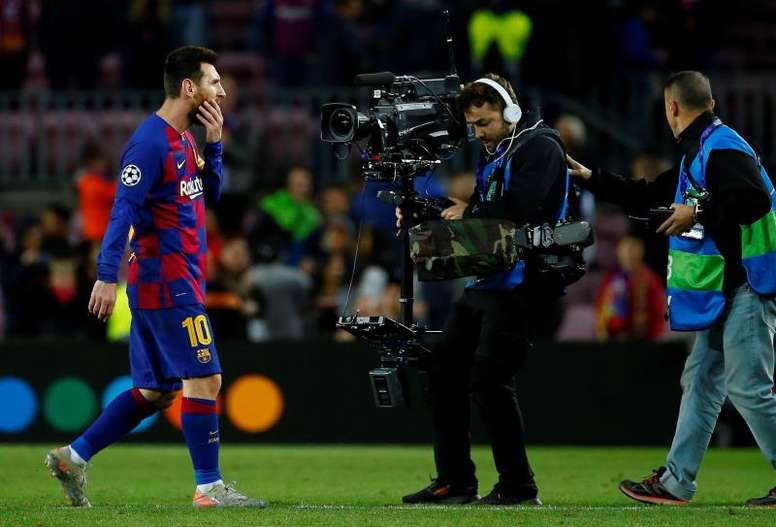 Joan Laporta wants Messi to stay. EFE