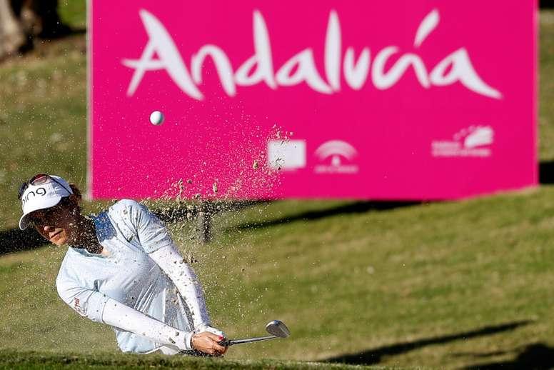 La golfista española Azahara Muñoz. EFE/ Jorge Zapata/Archivo