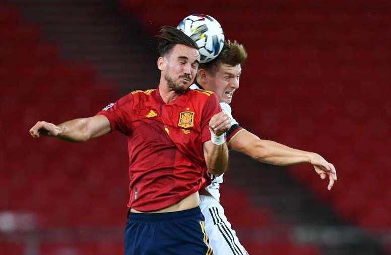 El 6-0 de España no fue la derrota más amarga para Kroos, pero sí la más clara. EFE/EPA