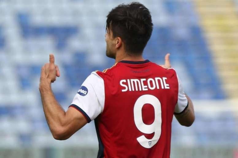 El Cagliari anunció el positivo en COVID-19 de Gio Simeone. EFE/EPA