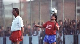 L'hommage de Cristiano Ronaldo à Diego Maradona. afp