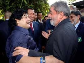 Maradona era conocido por su activismo político. EFE/Archivo