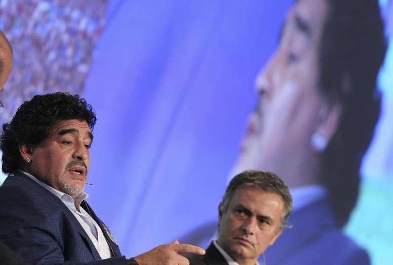 Mourinho ricorda Maradona. EFE