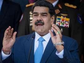 La despedida de Maduro a su hermano Maradona. EFE