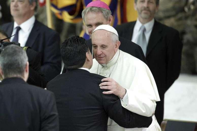 El papa recordó a Maradona. EFE