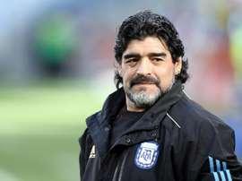 Chile llora la muerte de Maradona. EFE/Archivo