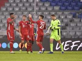 El Bayern ganó por inercia al Salzburgo. EFE