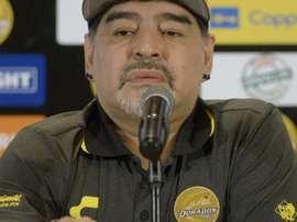 López Obrador destacó los ideales de Maradona. EFE/Archivo