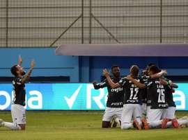 Palmeiras pasó por encima de Delfín. EFE