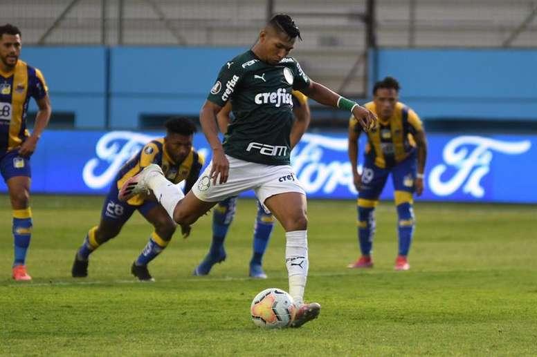 Palmeiras de Abel recuperou Rony e viu atacante reviver números de Athletico. EFE/Ariel Ochoa