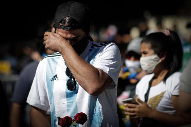 Maradona died on Wednesday night. EFE