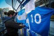 Il San Paolo rende omaggio a Maradona. EFE