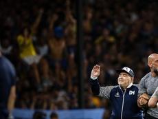 Maradona, el defensor de Suárez tras el mordisco a Chiellini. EFE/Archivo