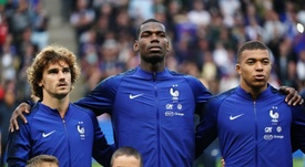 Antoine Griezmann and others condemned the violence. EFE