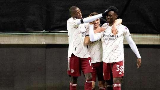 Nicolás Pépé, a ponto de sair do Arsenal. EFE/EPA/Svein Ove Ekornesvag