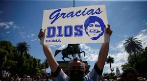 Habrá un minuto de silencio por Maradona en Ecuador. EFE