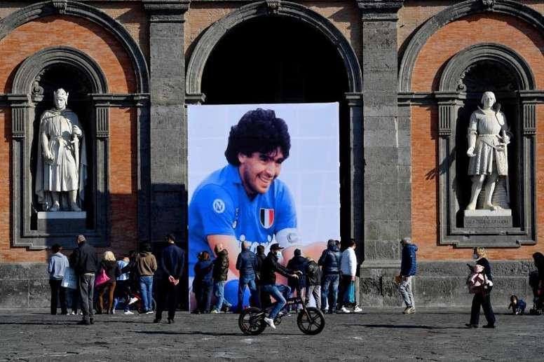 Dapena no guardó un minuto de silencio por Maradona. EFE