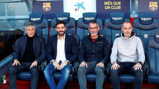Quique Setién denuncia o Barça por incumprimento de contrato. EFE
