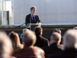 Feijoo explicó el nombre de la nueva sede del Celta. EFE