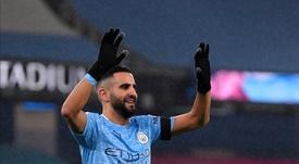 Mahrez lidera al City en la cuarta 'manita' seguida al Burnley. AFP