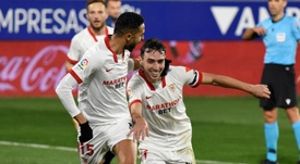 El Sevilla venció por la mínima a la SD Huesca. EFE