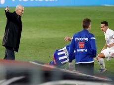 Zidane no encontró explicación alguna. EFE/Chema Moya