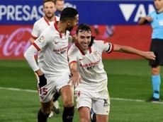 El Sevilla ya piensa en el Chelsea y el Madrid. EFE