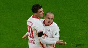 El RB Leipzig sigue sorprendiéndose con Angeliño. EFE/EPA/CLEMENS BILAN