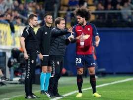 Aridane volvió a entrenar con el grupo. EFE