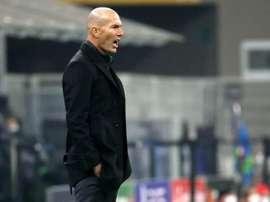 Zidane, optimista pese a la última derrota del Madrid. EFE/EPA/MATTEO BAZZI