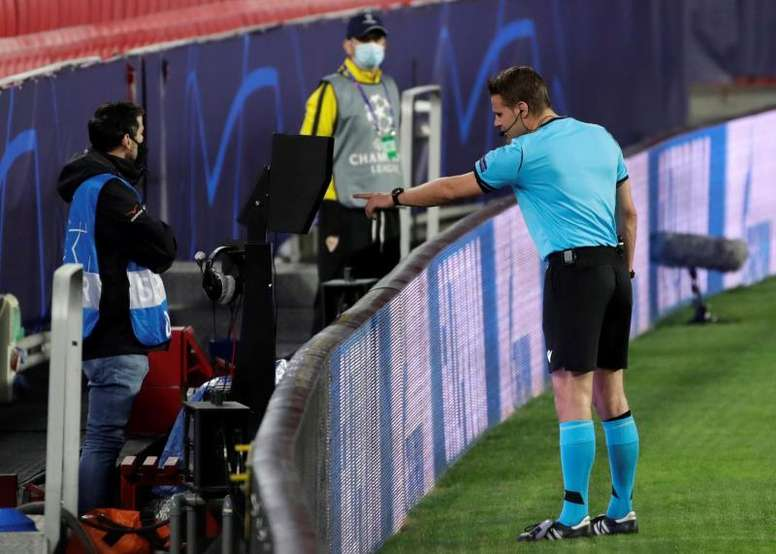 VAR be done off site in the Champions League for the first time. EFE
