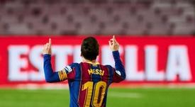 Messi busca el récord de Pelé. EFE