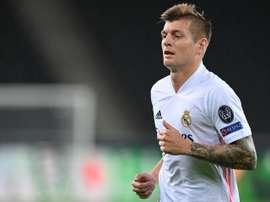 Toni Kroos, déçu par la défaite en Ligue des champions. EFE