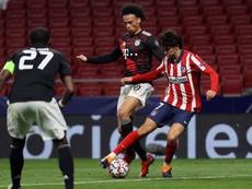 Joao Félix se marchó frustrado ante el Bayern. EFE/Juanjo Martín
