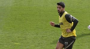 Suárez a repris l'entraînement individuel. EFE