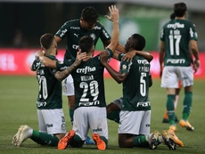 Palmeiras le endosó un 8-1 global a Delfín en la eliminatoria. EFE