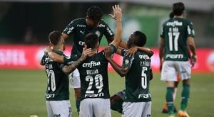 Palmeiras le endosó un 8-1 global a Delfín en la eliminatoria. EFE