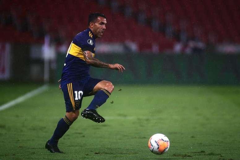 Tévez marcó el único gol del encuentro. EFE