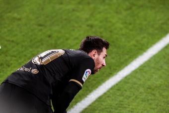 Loin de la maison, Messi n'y arrive pas. EFE