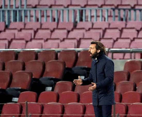 Andrea Pirlo at the game against Barcelona. EFE