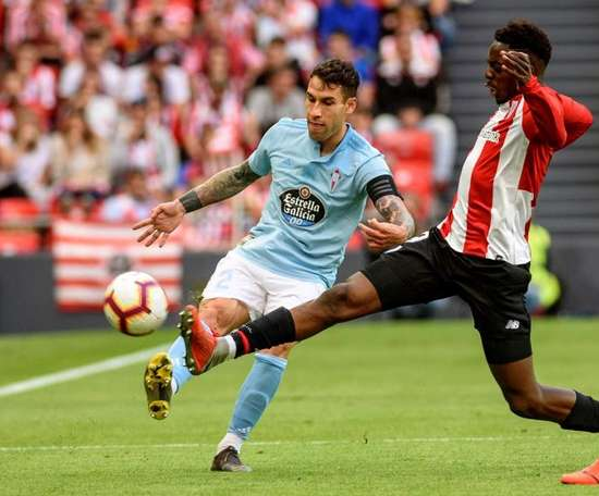 Celta's Hugo Mallo spoke about the incident. EFE