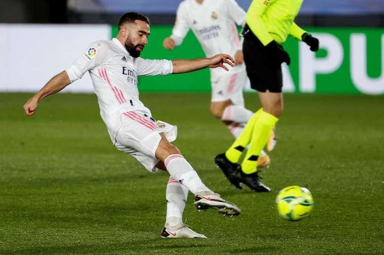 Carvajal podría llegar a tiempo a la hipotética final de la Supercopa. EFE